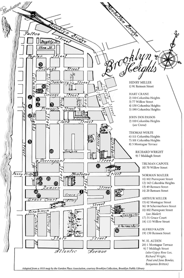 Map Created for Literary Brooklyn